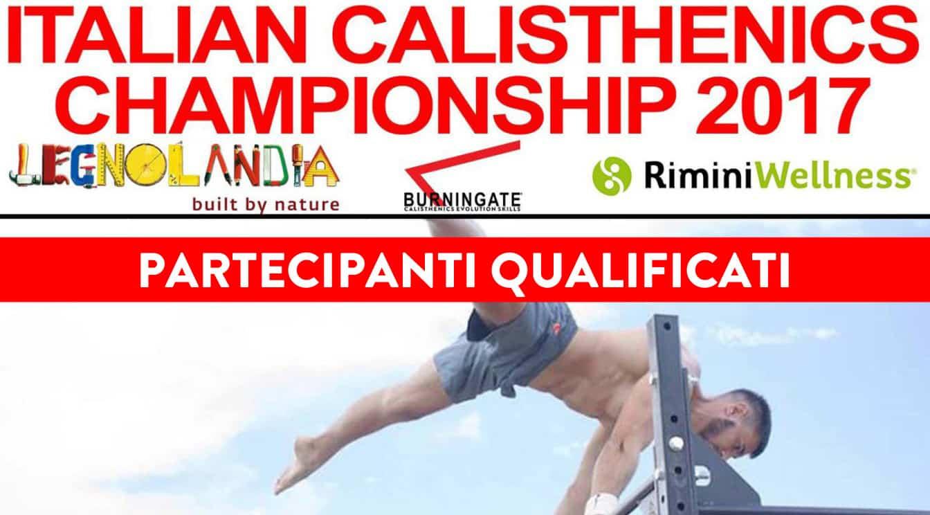 QUALIFICATI AL 4° CAMPIONATO ITALIANO DI CALISTHENICS & STREET WORKOUT