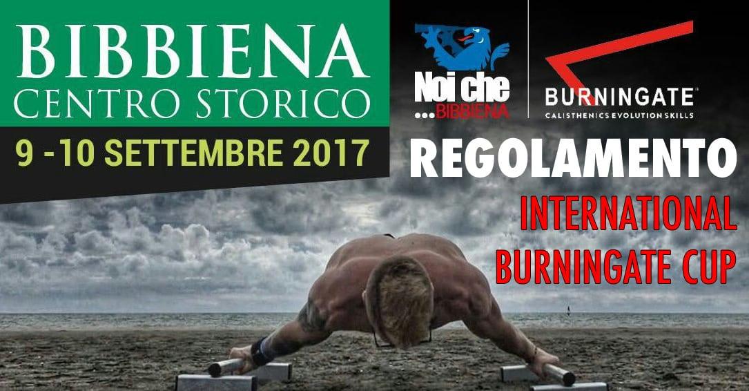 REGOLAMENTO UFFICIALE INTERNATIONAL BURNINGATE CUP 2017